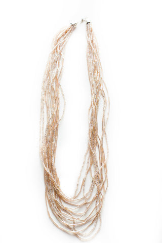 Blushing Multi Strand Necklace - LatchCo - 1