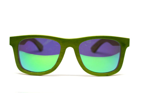 Skateboard Wood Sunglasses - Green - LatchCo - 1