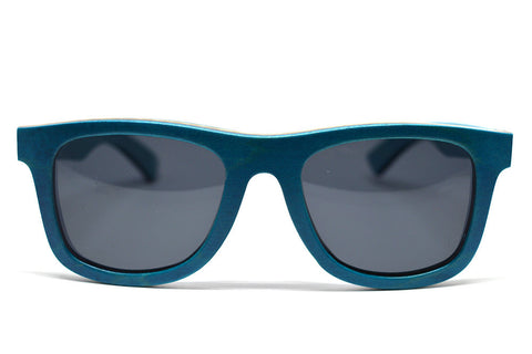 Skateboard Wood Sunglasses - Turquoise - LatchCo - 1