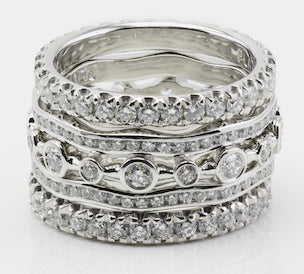 silver stacked rings