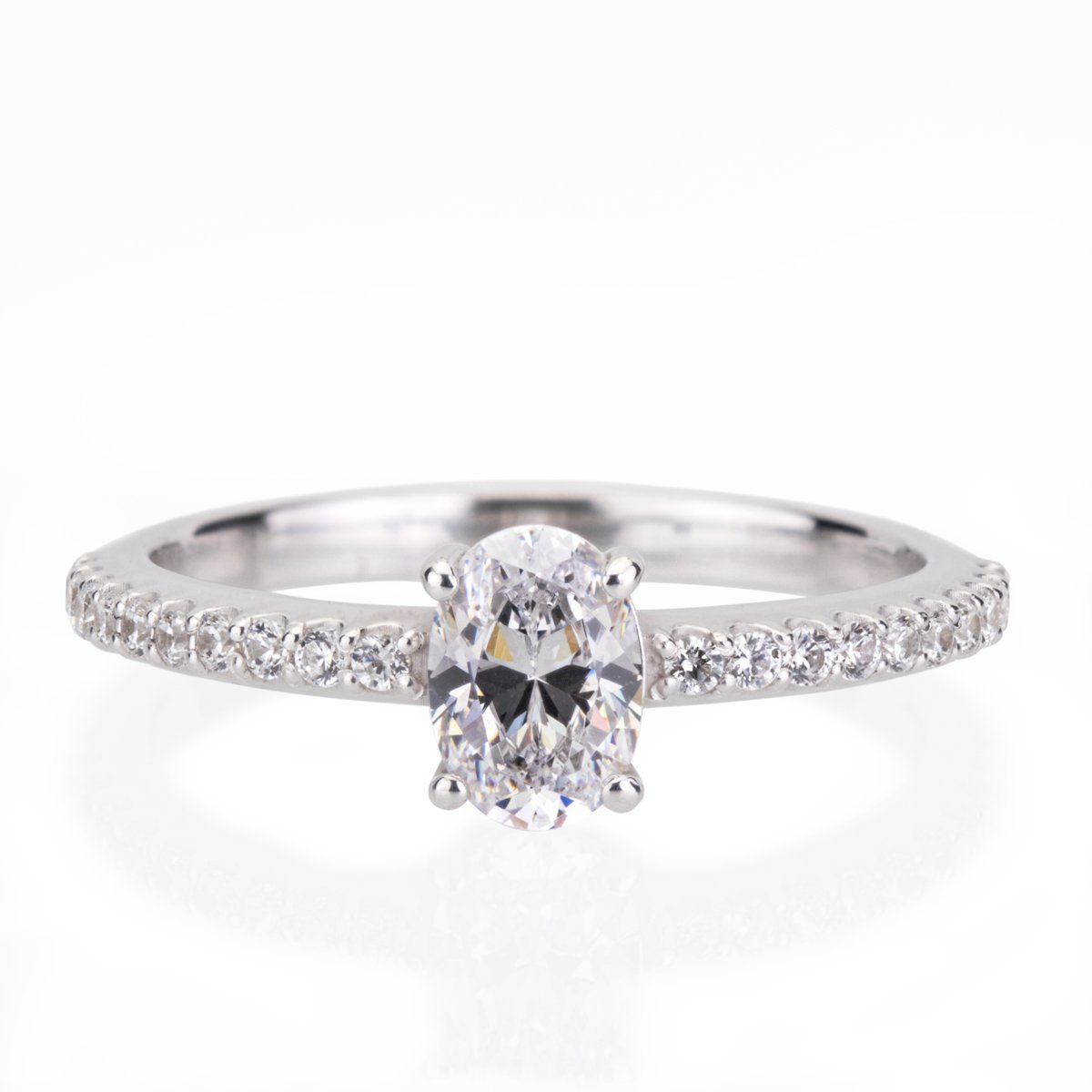 Emma- Oval Diamond Engagement Ring Diamond Engagement Ring Davidson Jewels