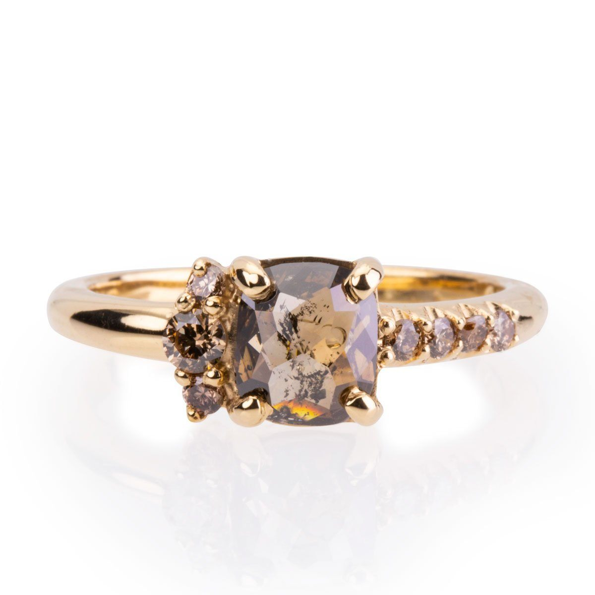 Hannah Rustic Diamond ring Diamond Engagement Ring Davidson Jewels