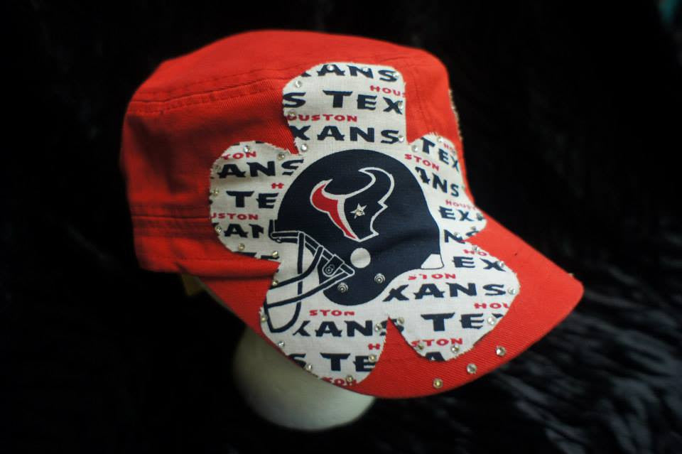 Houston Texan's Red Custom Cap