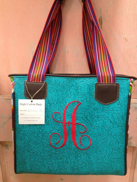 "The Turquoise ""Initial"" Handbag"