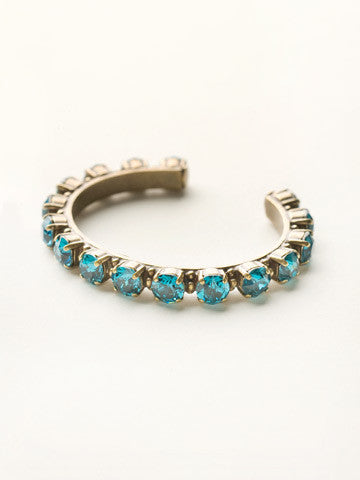 """AG/Blue Topaz Essentials"" Bracelet"