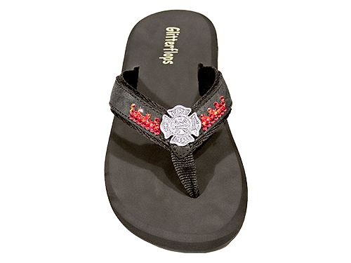 Fireman's cross w/ Fire Flip Flops