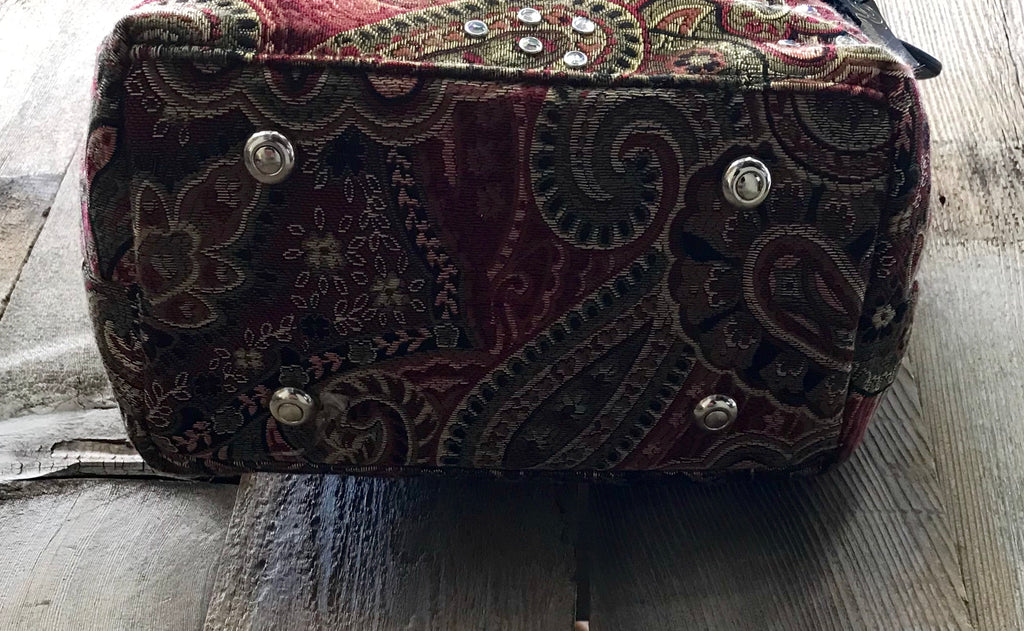 Maroon Tapestry With Swarovski Crystals