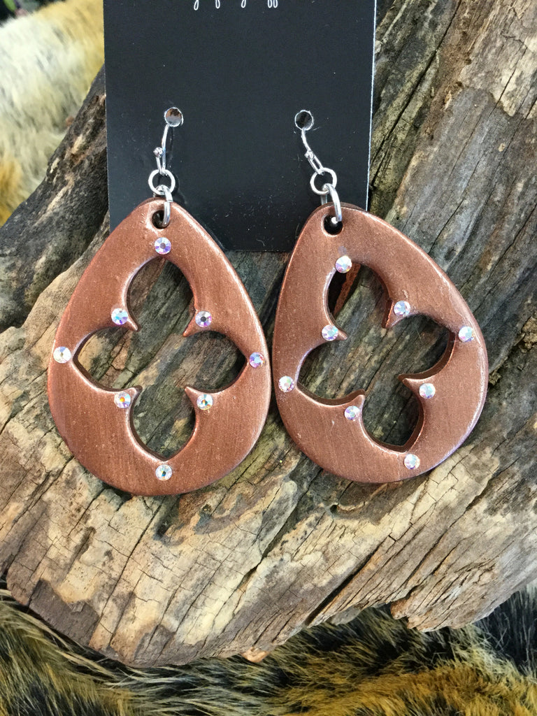 """Mini Miranda"" Clover Earrings"
