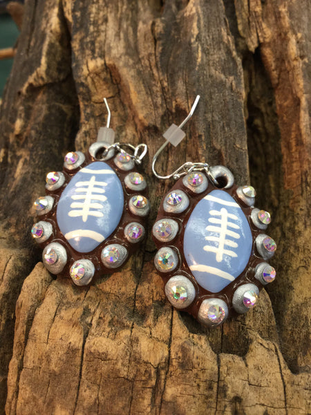 Football Clay Earrings
