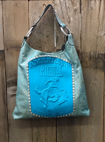American Original Bronco In Turquoise Handbag