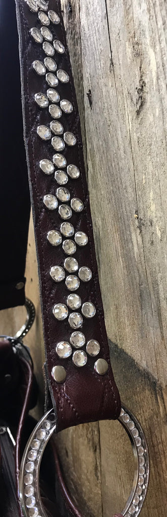 Maroon Leather With Full Crystals
