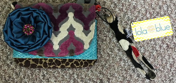 Maddy Purple Wishbone Wristlet Bag