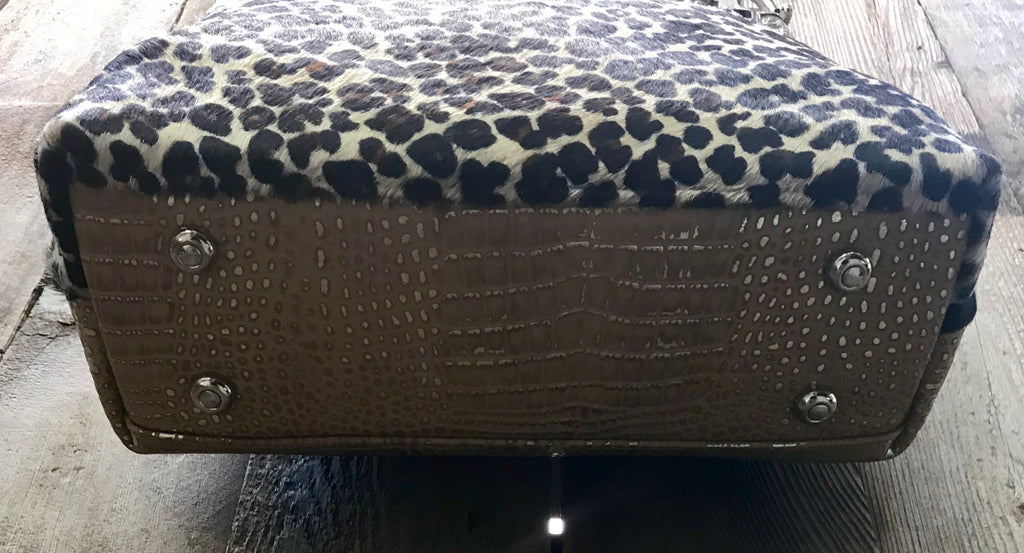 Gold Croc With Leopard Fur