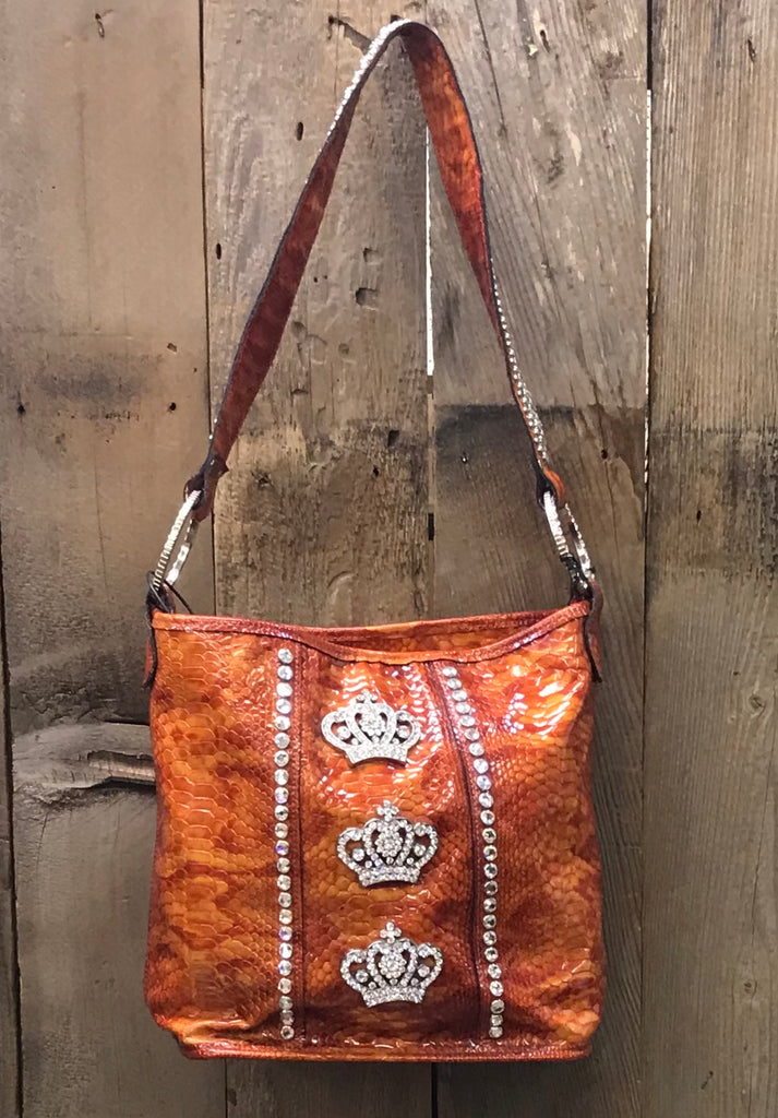Orange Snake With Three Crown Conchos