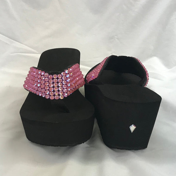 Crystal Wedge OMG Pink Delight