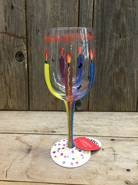 """Happy Birthday To You"" Wine Glass"