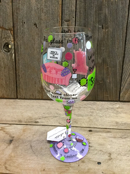 """Mommy's Time Out Too"" Wine Glass"