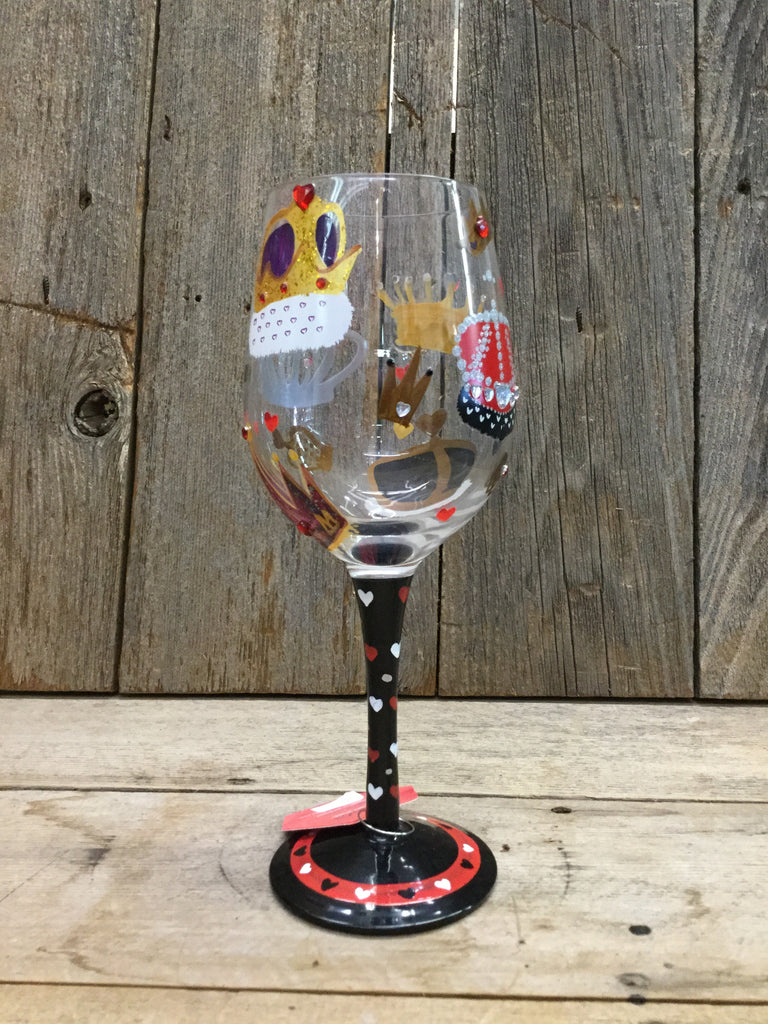 King Of Hearts Wine Glass