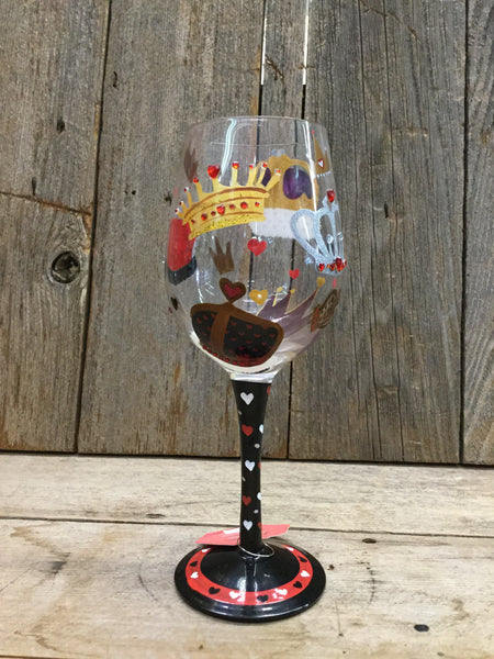 """King Of Hearts"" Wine Glass"