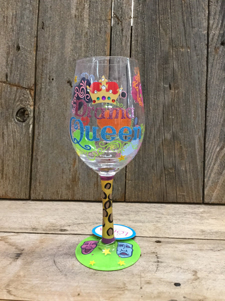 """Drama Queen"" Wine Glass"