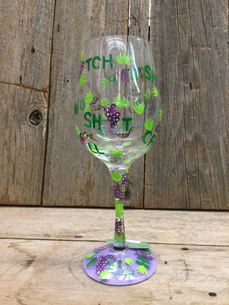 """Dirty Wine Glass"" Wine Glass"