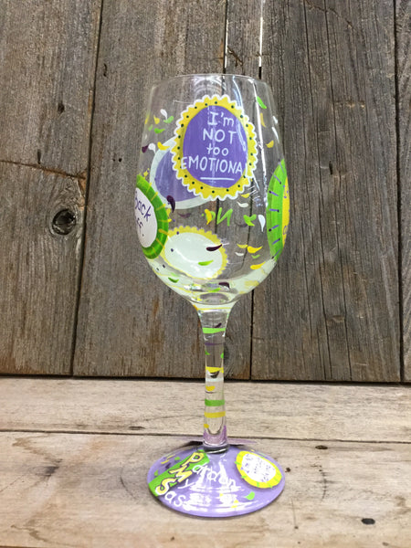 """PMS"" Wine Glass"