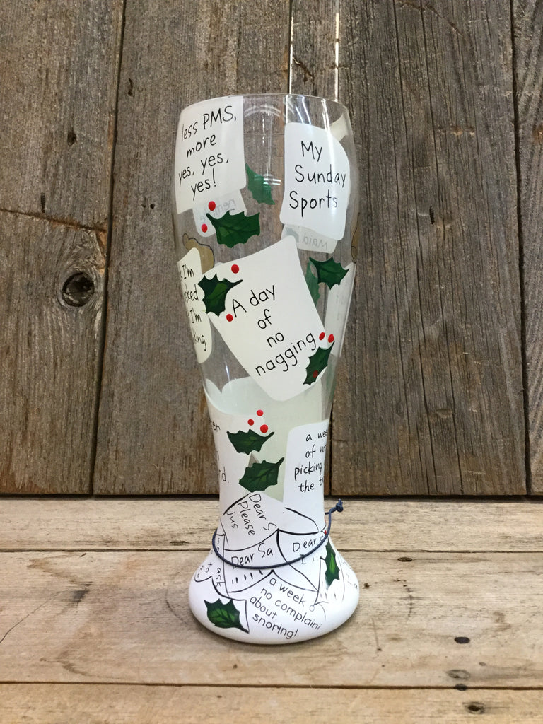 My Holiday Wish List Pilsner Glass