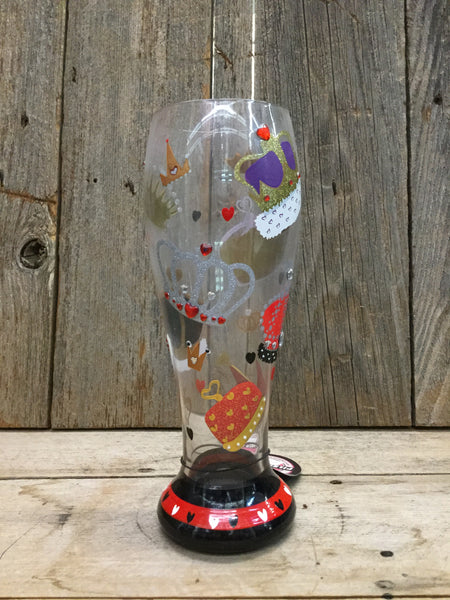 """King of Hearts"" Pilsner Glass"