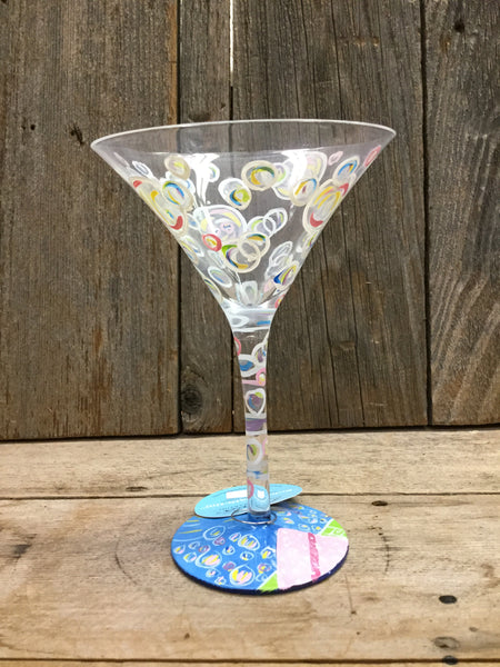 Bubble Bath-Tini Martini Glass