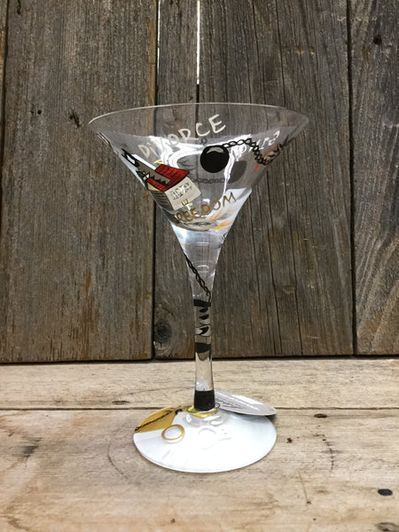 Divorce-Tini Martini Glass