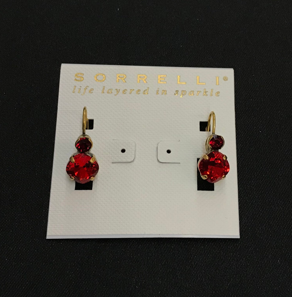 """Sansa Red"" Earrings"