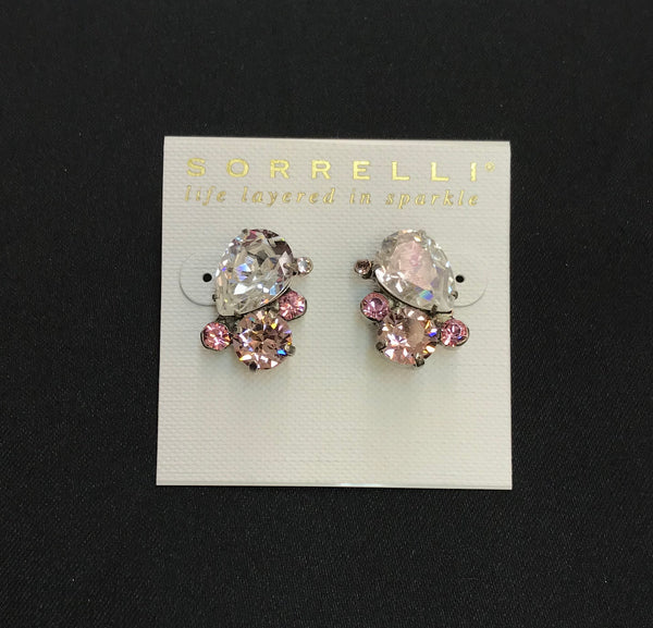 """Crystal Rose"" Earrings"