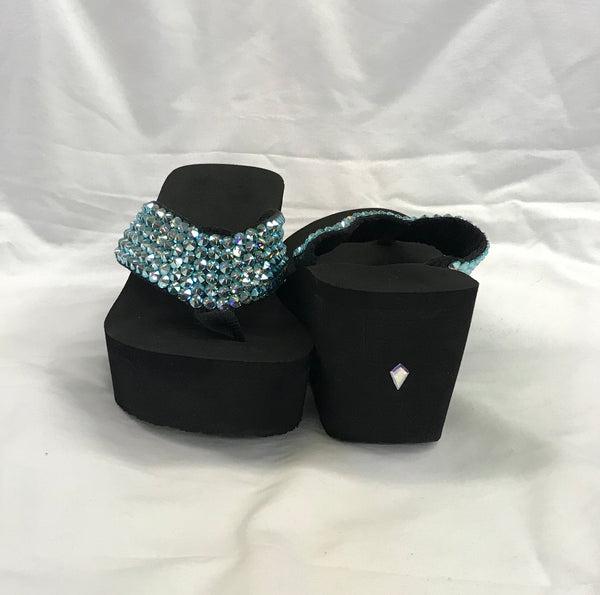 Crystal Wedge OMG Turquoise AB