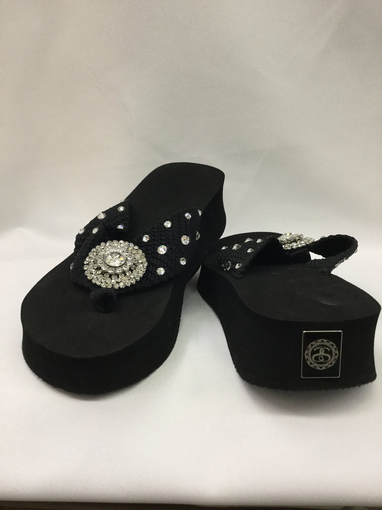 Miss Cellaneous Too Crystal/Bulls Eye Flip Flops