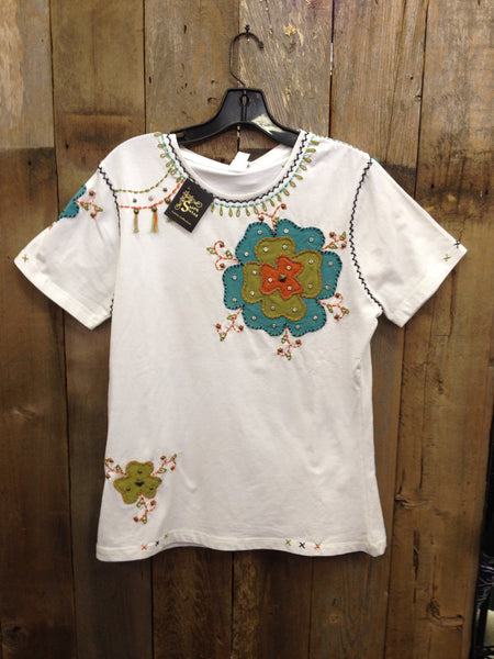 SH-090 Flower White T-Shirt