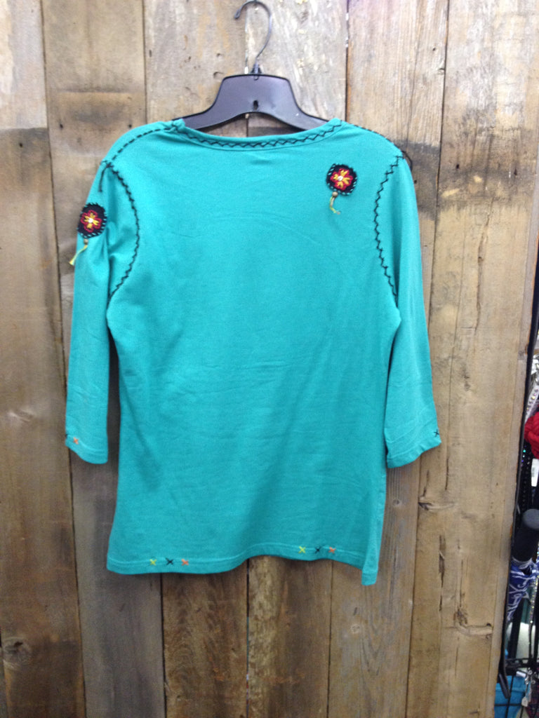 SH-081 Cowboy Boots Turquoise T-Shirt