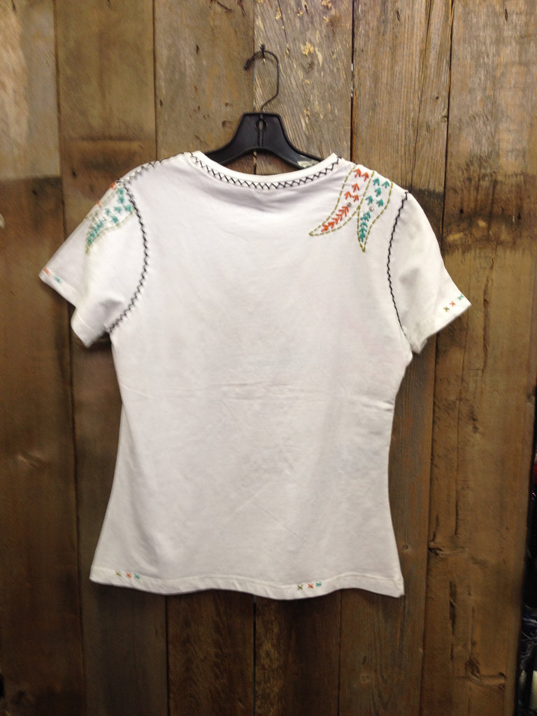 SH-077 Leaves White T-Shirt