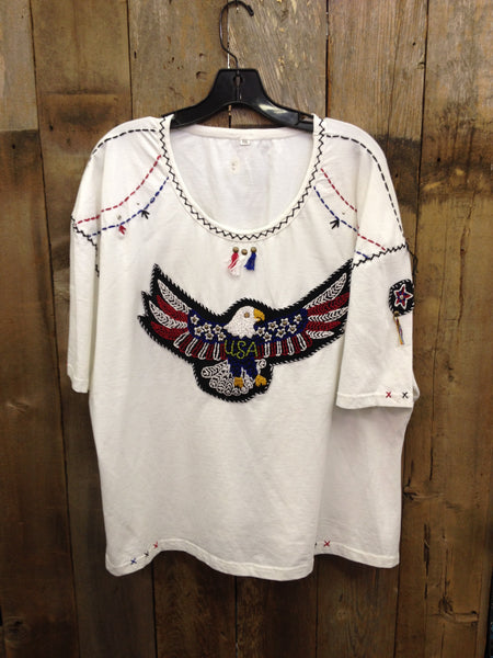 SH-083 Eagle White T-Shirt