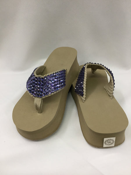 Miss Tified Too Tanzanite  Flip Flops