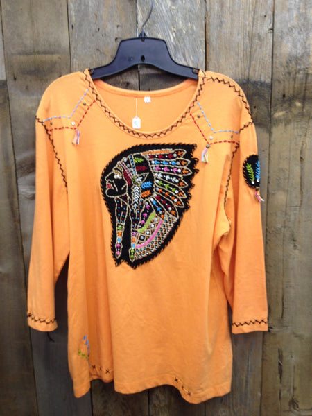 SH-046 Indian Head Orange T-Shirt