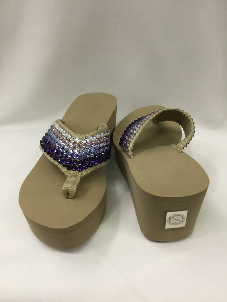 Miss Tified Ombre Purple Flip Flops