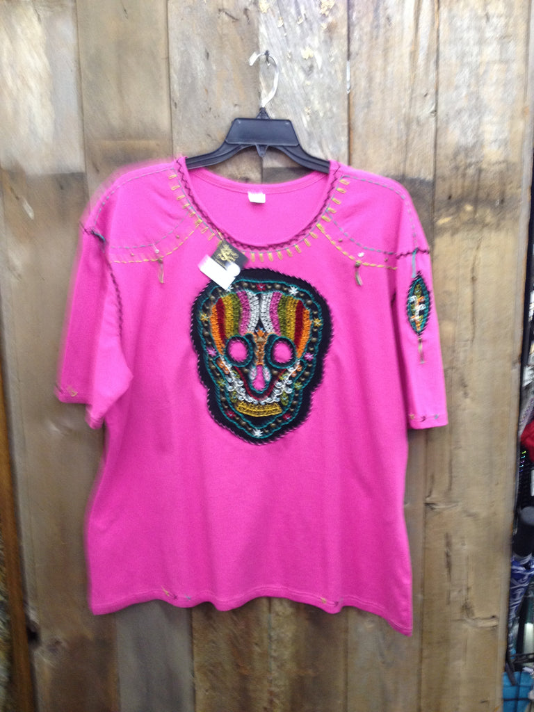 SH-101 Sugar Skull Hot Pink T-Shirt