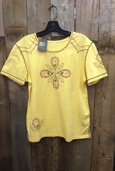 SH-017 Flower Yellow T-Shirt