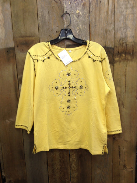SH-020 Cross Yellow T-Shirt