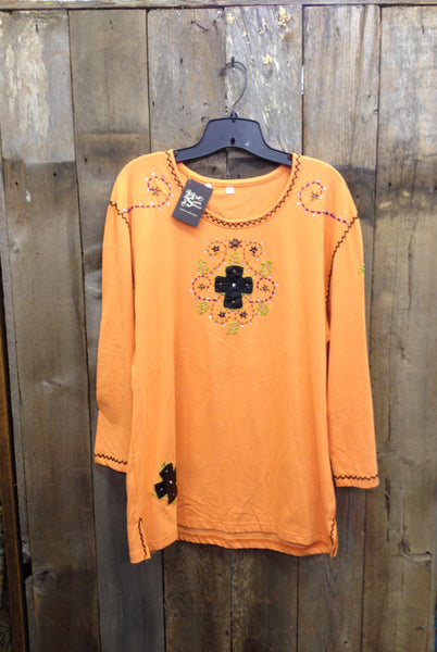 SH-011 Cross Orange T-Shirt