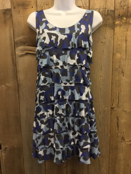 Blue Animal Crush Dress