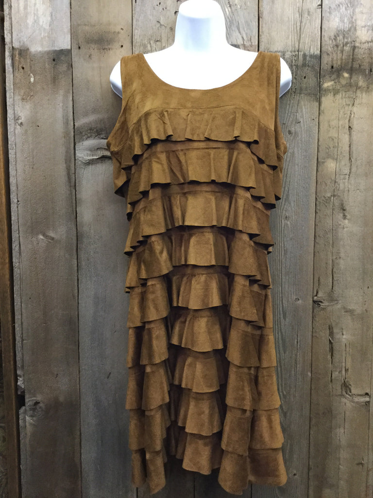 Almond Suede Dress