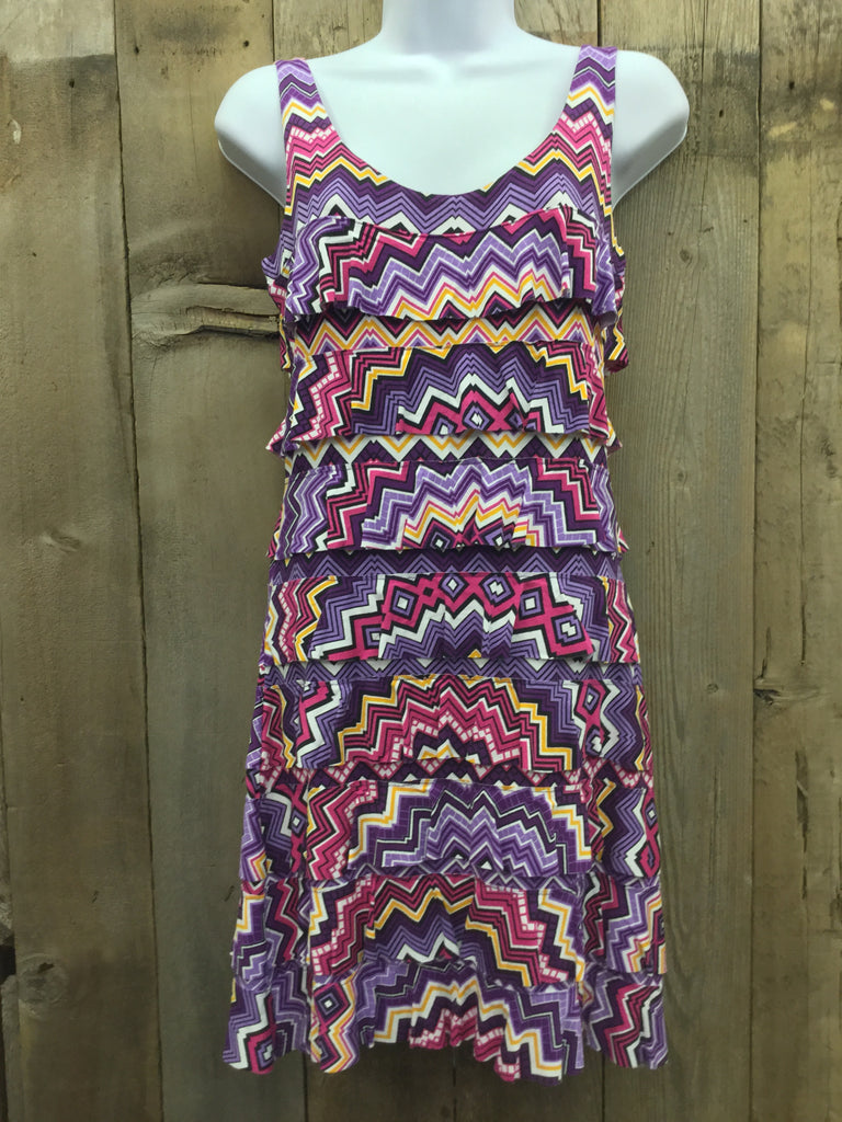 Purple Zig Zag Dress