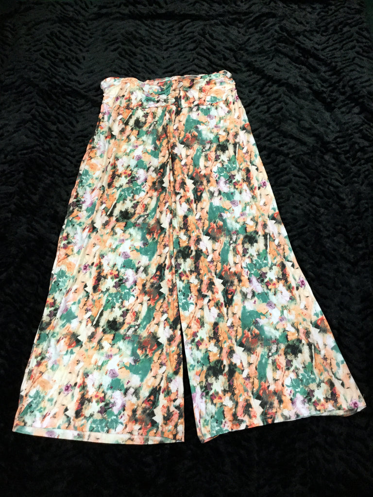 Green Painter Crush Palazzo Pant