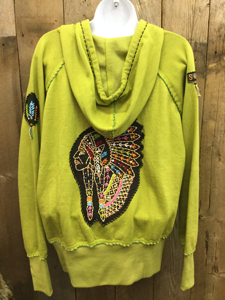 H-046 Indian Head Olive Jacket/Hoodie
